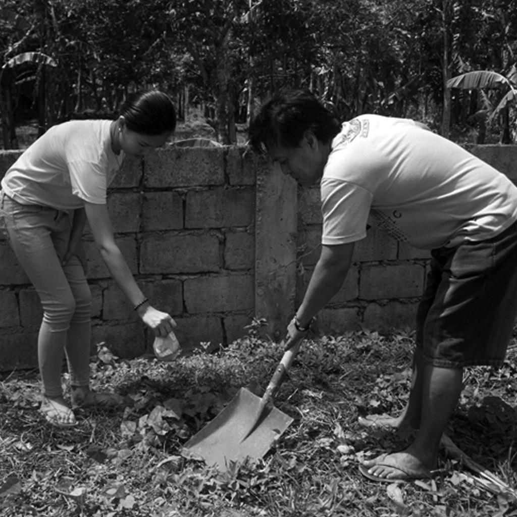 Burying placenta
