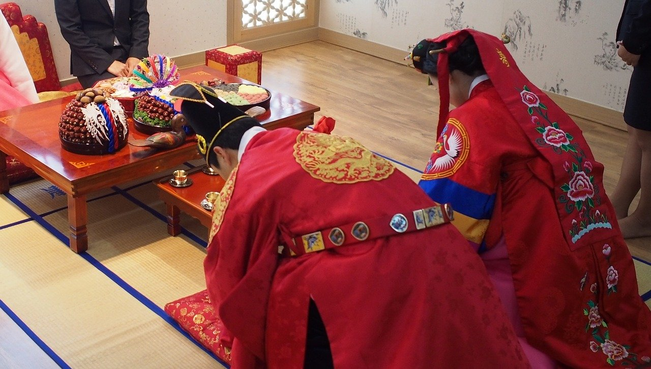 korean hanbok wedding