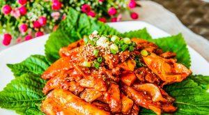 Tteokbokki rice cake spicy korea