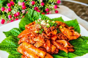 Tteokbokki rice cake spicy korea