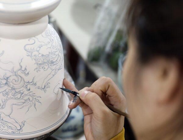 Vietnamese ceramic motifs patterns